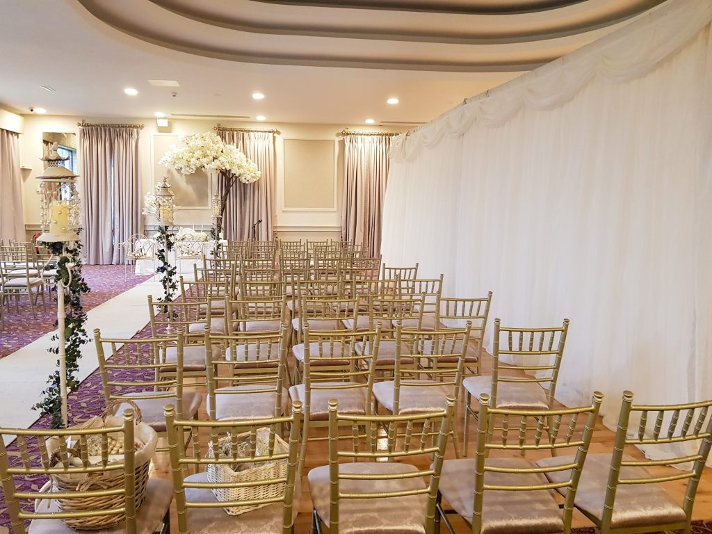 Vogue Events Wedding ceremony set up